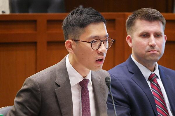 前香港立法會議員、「香港眾志」創黨主席羅冠聰(Nathan Law)說,「今日新疆,明日香港;今日香港,明日台灣。」(李辰/大紀元)