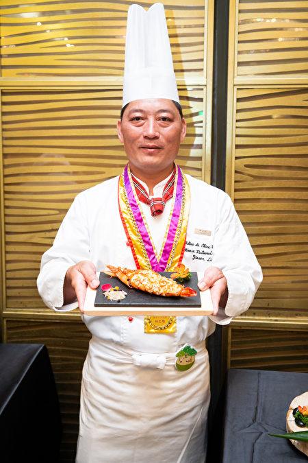 柚香馬告焗烤海虎蝦/林志雄主廚。