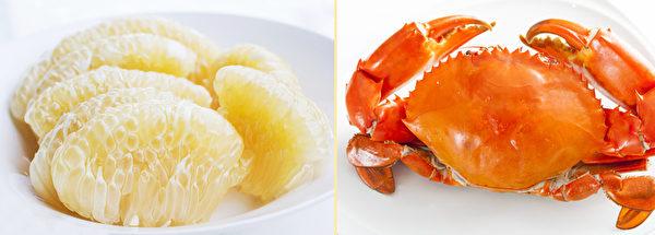 柚子可以和螃蟹一起吃吗?(Shutterstock、Fotolia/大纪元合成)