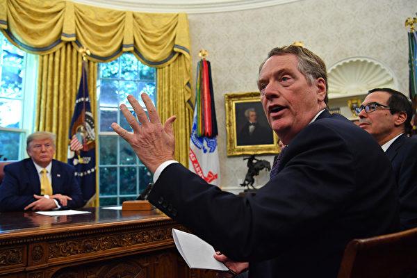 萊特希澤表示,華為不是貿易協議的一部份。 (Nicholas Kamm/AFP)