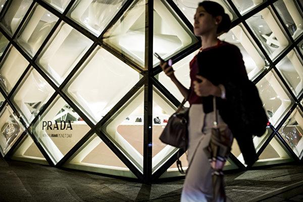 日本東京,普拉達標誌性建築。(Odd ANDERSEN/AFP)