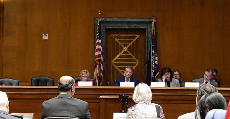 10月23日,美國國際宗教自由委員會(USCIRF)在參議院舉行聽證會。(李辰/大紀元)