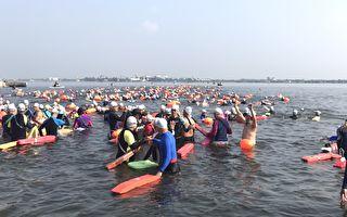 大鵬灣海水長泳   1500人挑戰場面壯觀