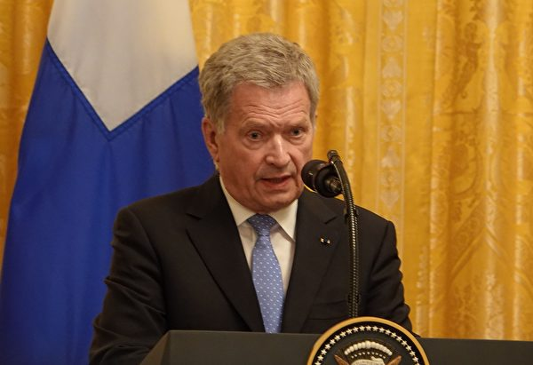 芬蘭總統尼尼斯托在記者會上說:「對國家來說,最重要的是確保本國公民的安全。」 (亦平/大紀元)
