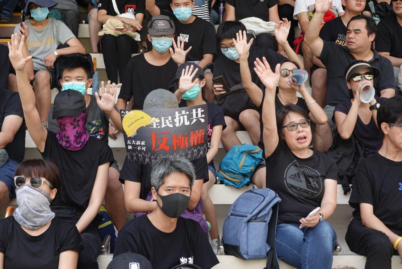 香港特首林鄭月娥10月4日頒佈《禁蒙面法》,此舉激發港民更大的憤怒。(余鋼/大紀元)