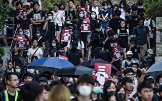 组图:中大生校园罢课游行 声援被捕示威者