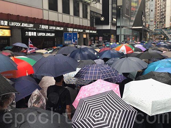 2019年10月6日,反對《緊急法》港島區大遊行。銅鑼灣。(余天祐/大紀元)