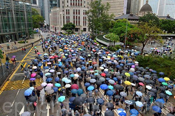 2019年10月6日,反對《緊急法》港島區大遊行。中環。(宋碧龍/大紀元)