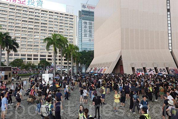 2019年10月12日,「反緊急法遊行」,尖沙咀鐘樓文化中心 。(余鋼/大紀元)