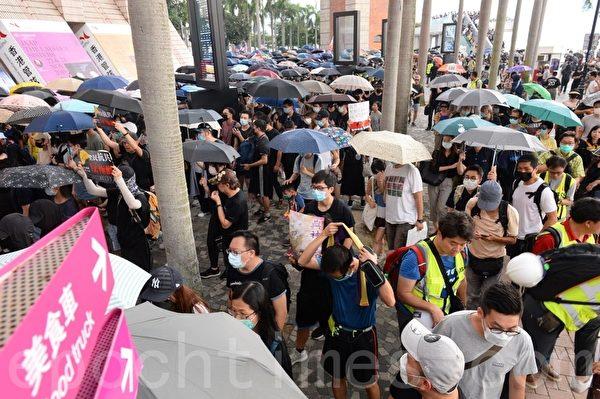 2019年10月12日,「反緊急法遊行」,尖沙咀遊行起步 。(宋碧龍/大紀元)