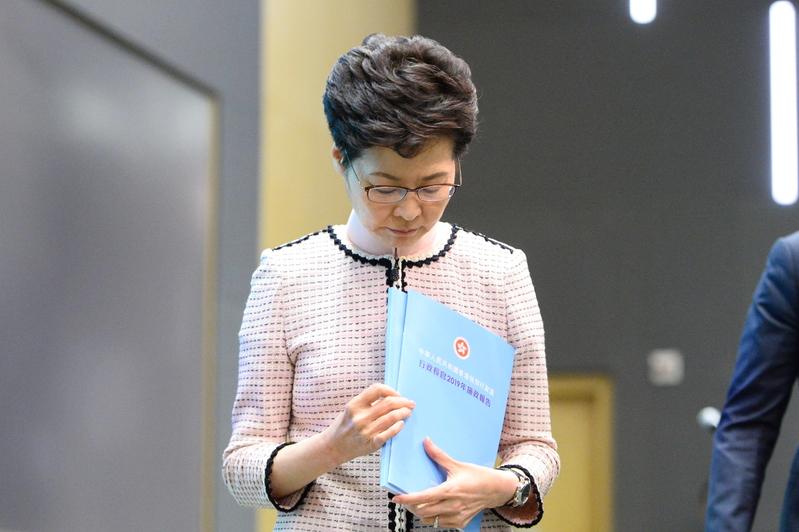香港特首林鄭月娥雖然先後會見了習近平、韓正,但建制派成員仍然公開批林鄭。(宋碧龍/大紀元)