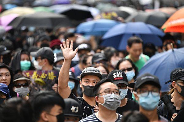 2019年10月20日,香港「廢除惡法、獨立調查、重組警隊」九龍區大遊行。(ANTHONY WALLACE/AFP via Getty Images)