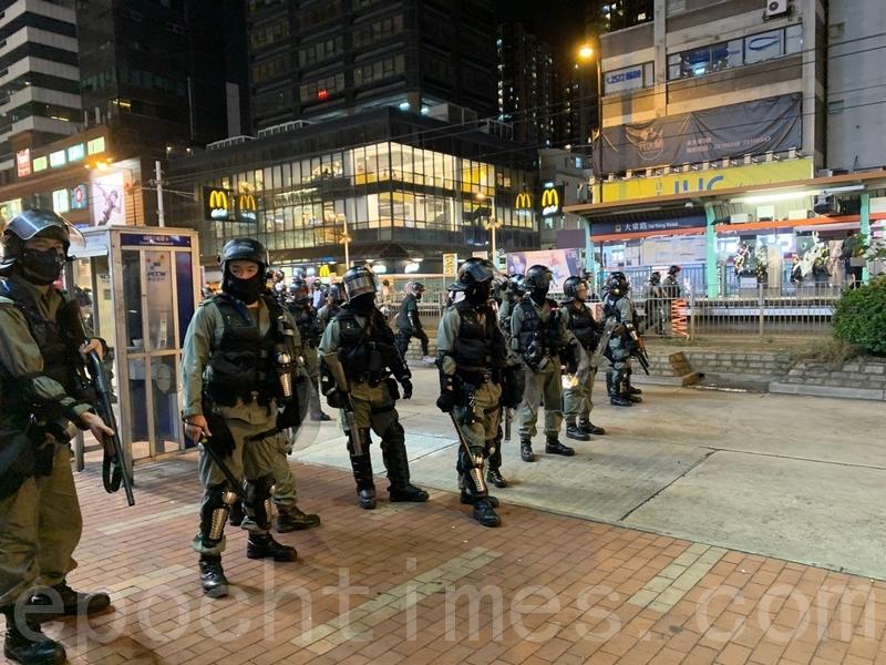 組圖:元朗事件屆滿三個月 警民再爆衝突