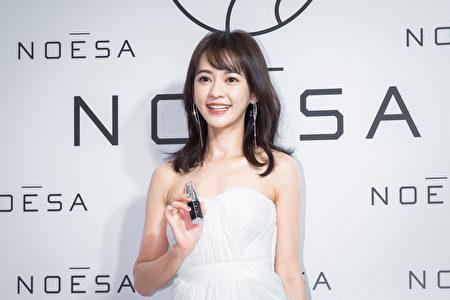 女星陳意涵出席頂級保養品活動資料照。