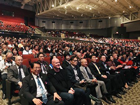 「108年國慶文化訪問團」美洲團3日晚間在長島大學Tilles Center演出,吸引華洋民眾1,500餘人觀賞。