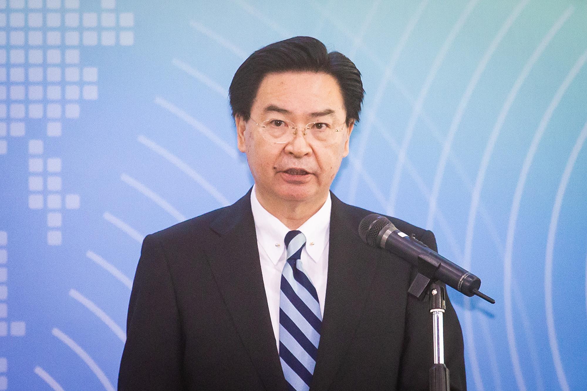 美台首屆「太平洋對話」(Pacific Islands Dialogue)7日在台北登場,外交部長吳釗燮出席致詞。(陳柏州/大紀元)