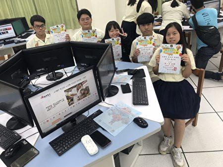 以「無國界醫生」獲金獎的江建均、周侑蘚、吳怡玟、張巧融及謝宜庭等5位同學。