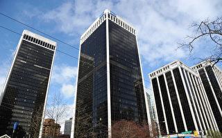 加拿大科技行业就业机会激增,而办公空间紧缺的问题依然存在。图为温哥华市中心的Bentall高档写字楼。(童宇/大纪元)