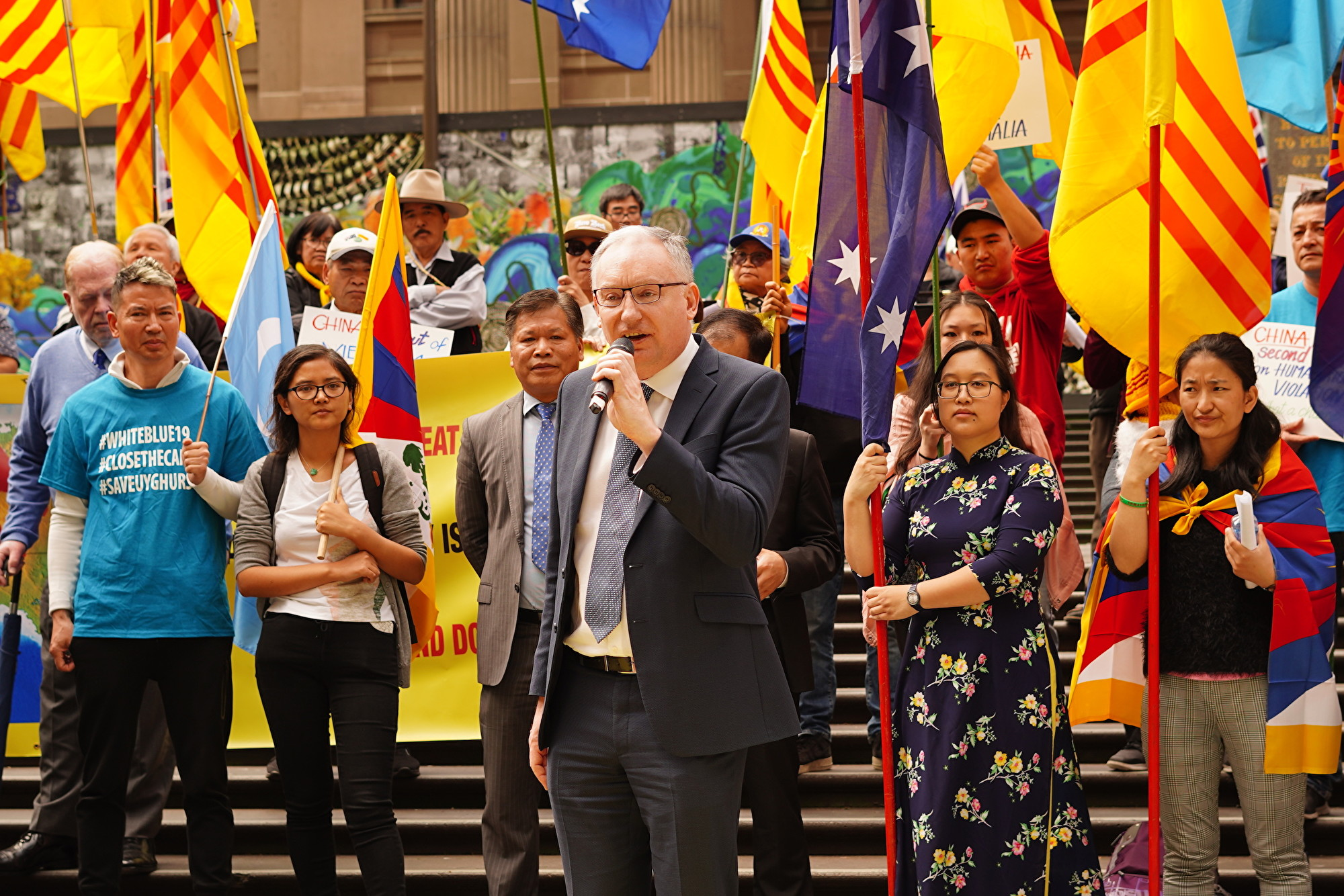 澳洲自由民主党(Liberal Democratic Party)议员David Limbrick(Peter Li/大纪元)