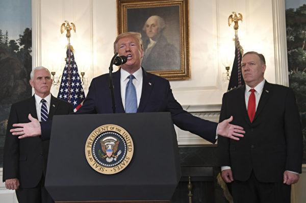 美國總統特朗普談到美軍永久駐守敘利亞未必正確,他對撤軍決定充滿信心。(SAUL LOEB/AFP/Getty Images)