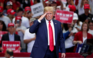 "DALLAS, TEXAS - OCTOBER 17: U.S. President Donald Trump speaks during a ""Keep America Great"" Campaign Rally at American Airlines Center on October 17, 2019 in Dallas, Texas. (Photo by Tom Pennington/Getty Images)"