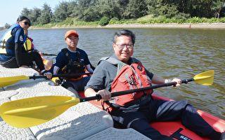新屋後湖溪獨木舟首航  打造泛舟低碳旅遊景點
