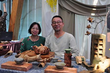 慢步調的生活也是一種享受,關西野茶與藝術達人賴傳莊夫妻,歡迎民眾前去泡茶聊天