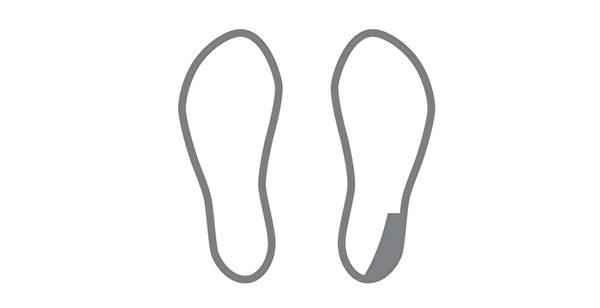 鞋底磨损类型之:单脚鞋跟磨损。(三采文化提供)