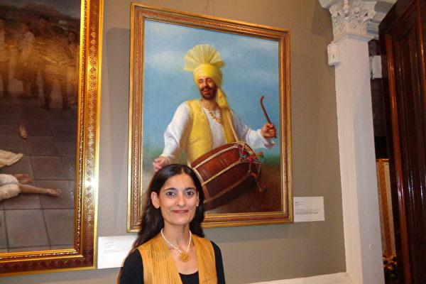 《朵爾鼓手》獲大賽優秀獎 畫家談作畫心境