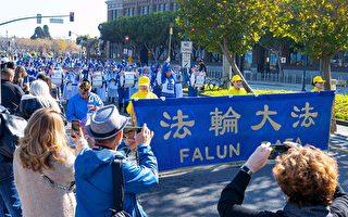 旧金山老兵节游行  主办方赞扬天国乐团