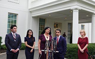 川普总统在白宫会晤共产主义受害者