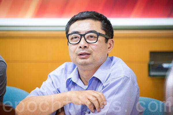 中國「民國派」理論家、作家孔識仁。(陳柏州/大紀元)