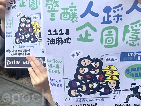 2019年11月27日,香港網友發起觀塘駿業街遊樂場「和你Lunch」活動,要求政府回應11.18油麻地「人踩人」事件。(余天祐/大紀元)