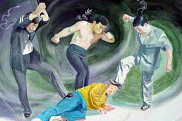 發法輪功真相資料 遼寧馬鳳菊遭警察暴打