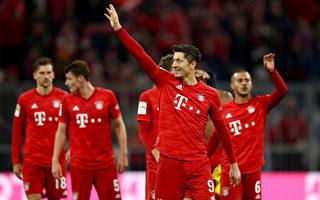 德甲:拜仁4球大勝多特 萊萬打破51年紀錄