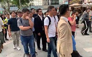 11月25日下午,香港區議會選舉中當選的60位泛民主派人士,到百週年紀念公園集會,然後遊行到香港理工大學,聲援依然留守理大的學生。(大紀元視頻截圖)