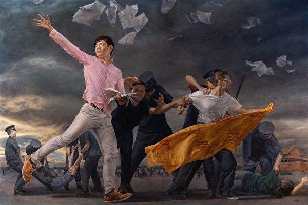 油畫《真相傳》獲銀獎 選手談創作使命