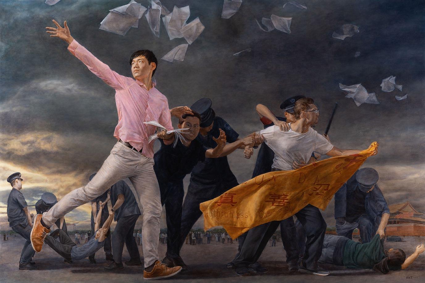 油畫《真相傳》入圍決賽 選手談創作使命