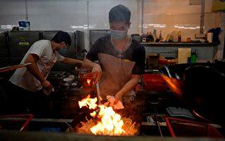 組圖:大學停擺 香港抗議學生自己運營食堂