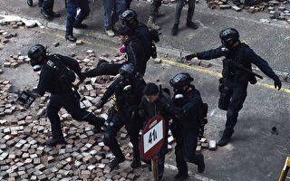 组图:港理工大被困抗议者多次尝试突围
