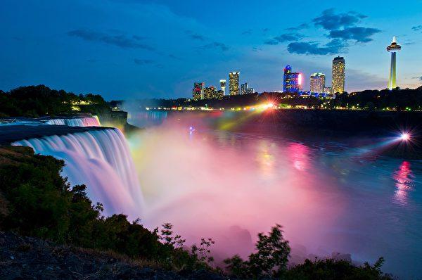 中共用行政命令,限制中國人民來加拿大旅遊。圖為美加邊境旅遊勝地尼加拉瓜瀑布。(KAREN BLEIER/AFP via Getty Images)