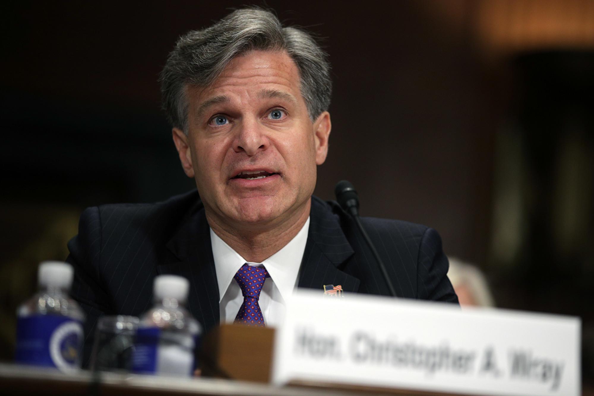 FBI局長:Antifa真實存在 正調查其暴力行為