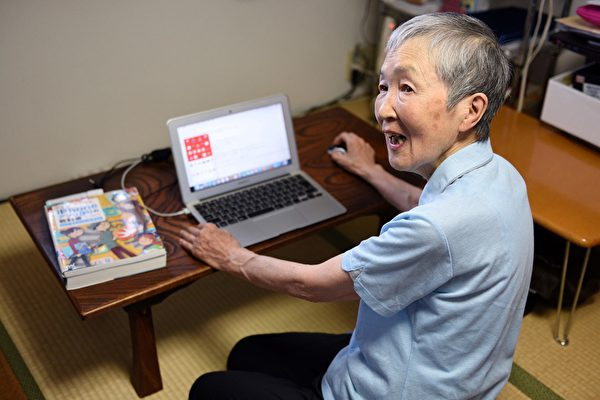 This picture taken on July 13, 2017 shows 82-year-old programmer Masako Wakamiya speaking during an interview with AFP in Fujisawa, Kanagawa prefecture. - When 82-year-old Masako Wakamiya first began working she still used an abacus for maths -- today she is one of the world's oldest iPhone app developers, a trailblazer in making smartphones accessible for the elderly. (Photo by Kazuhiro NOGI / AFP) / TO GO WITH Japan-tech-elderly,FEATURE by Karyn NISHIMURA-POUPEE (Photo credit should read KAZUHIRO NOGI/AFP via Getty Images)