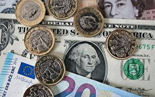 【貨幣市場】 經濟數據強勁 美元對歐元英鎊升值