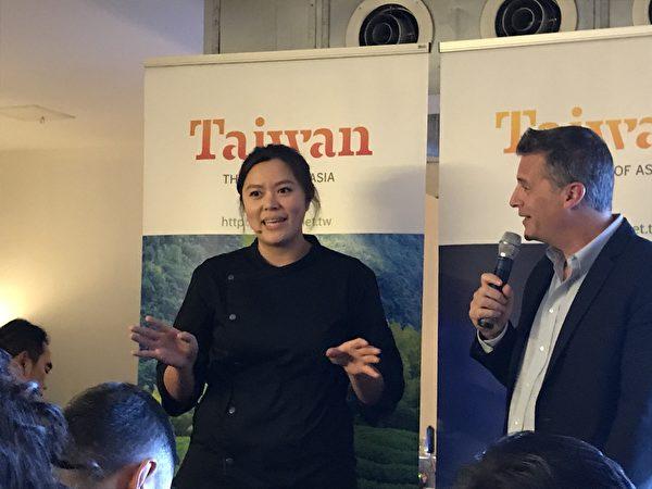 圖:台灣旅遊局舉辦美食品嚐活動,開拓加拿大市場,台灣美食令現場觀眾稱讚不已。(邱晨/大紀元)