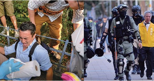 香港警方维园放催泪弹 拘三名区议会候选人