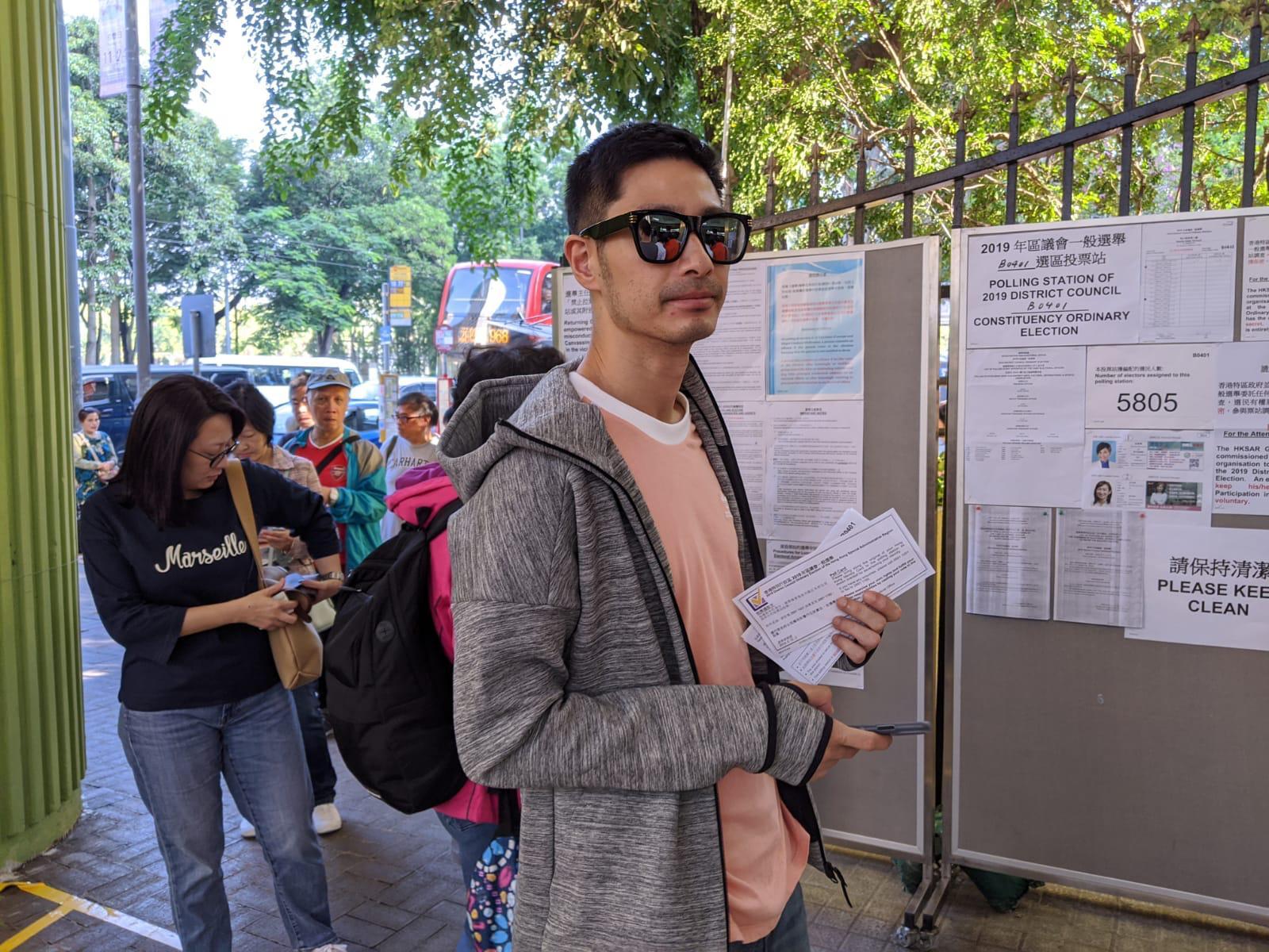【11.24選舉】藝人王宗堯:用手上選票做「公投」