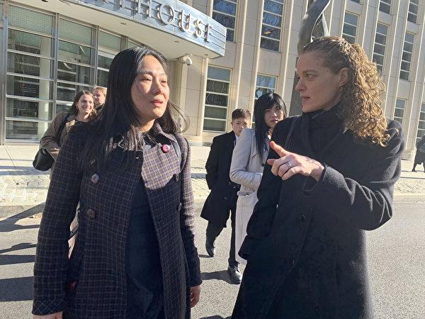 前中國國際航空公司經理林英(Ying Lin,音譯)充當中共代理人,繞開美國的審查幫中共軍方人士將包裹走私至中國,21日在紐約東區聯邦地區法庭被判緩刑5年。(林丹/大紀元)