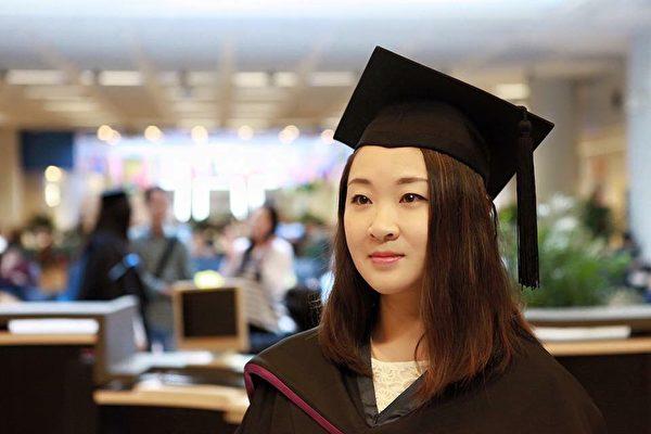 張雪雲在香港城市大學攻讀商科碩士學位,畢業後留港工作。(張雪雲提供)