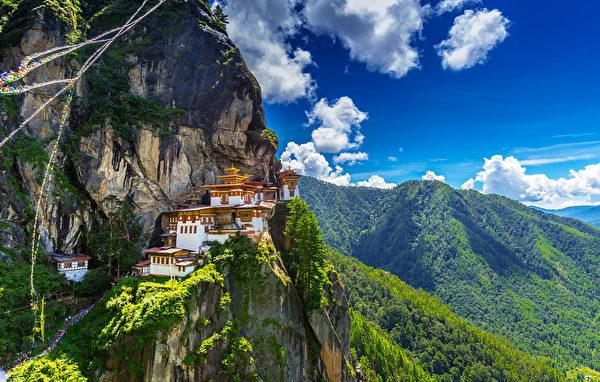 位於中亞的喜馬拉雅山麓的不丹。(shutterstock)